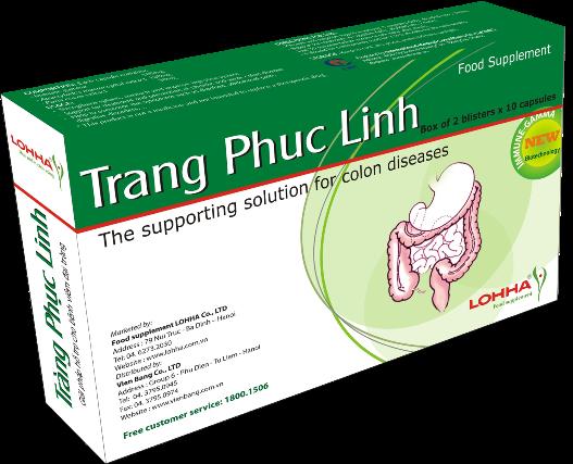 Trang Phuc Linh, thực phẩm chức năng Tràng phục linh