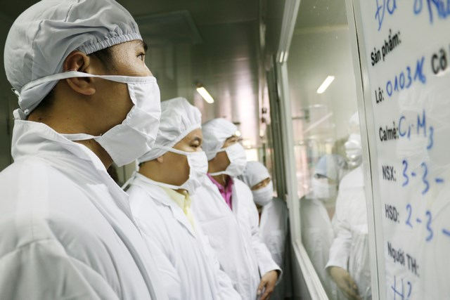 Visiting dietary supplement factory hitting the top of the most modern factories in northern Vietnam