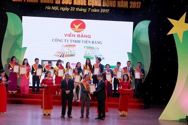 Nhiều sản phẩm do Hệ thống IMC sản xuất đạt danh hiệu 'Sản phẩm vàng vì sức khỏe cộng đồng' 2017