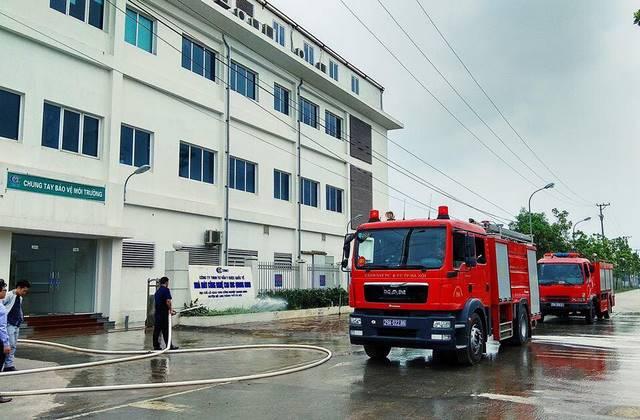 Nhà máy Công nghệ cao IMC Quang Minh I đào tạo phòng cháy chữa cháy năm 2018