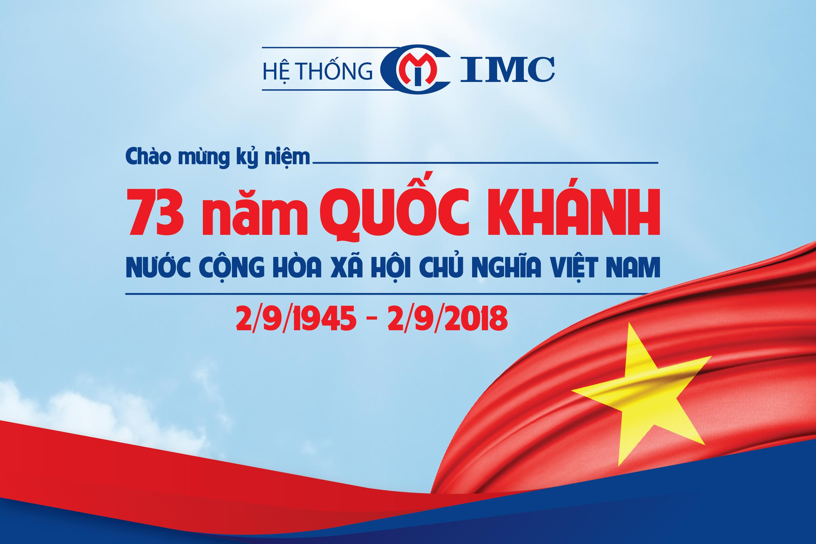 IMC – Chào mừng 73 năm Quốc khánh nước CHXHCN Việt Nam