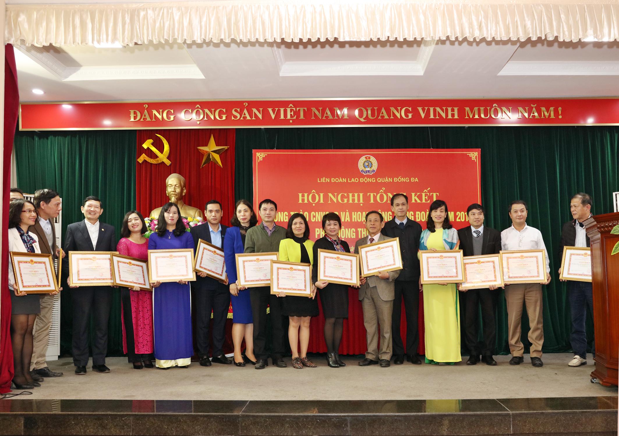 IMC – UBND quận Đống Đa khen thưởng công tác Công đoàn IMC năm 2018